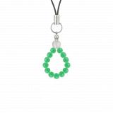 純真(4㎜)若緑色クリソプレーズ・水晶(クォーツ)ストラップ