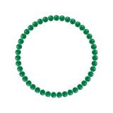 純真(4mm)緑色グリーンメノウブレスレット