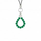 純真(4㎜)緑色グリーンメノウ・水晶(クォーツ)ストラップ
