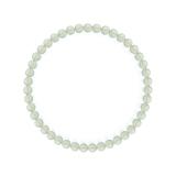 純真(4mm)白緑色グリーンアメジストブレスレット