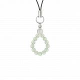 純真(4㎜)白緑色グリーンアメジスト・水晶(クォーツ)ストラップ