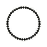 純真(4mm)黒色オニキスブレスレット