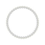 純真(4mm)白露色水晶・クォーツブレスレット