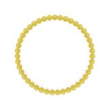 純真(4mm)黄色イエローメノウブレスレット
