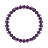 純真(6mm)紫色アメジストブレスレット