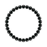 純真(6mm)漆黒色ブラックトルマリンブレスレット