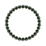 純真(6mm)千歳緑色ブラッドストーンブレスレット