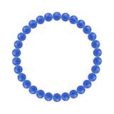 純真(6mm)青色ブルーメノウブレスレット