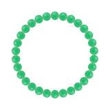 純真(6mm)若緑色クリソプレーズブレスレット