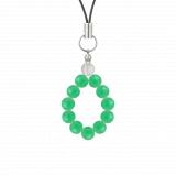 純真(6mm)若緑色クリソプレーズ・水晶(クォーツ)ストラップ