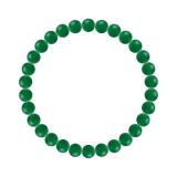 純真(6mm)緑色グリーンメノウブレスレット