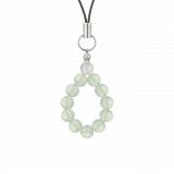 純真(6mm)白緑色グリーンアメジスト・水晶(クォーツ)ストラップ