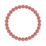 純真(6mm)薔薇色インカローズブレスレット
