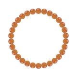 純真(6mm)橙色サードオニキスブレスレット