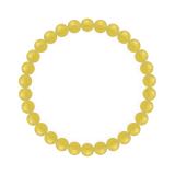 純真(6mm)黄色イエローメノウブレスレット