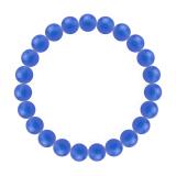 純真(8mm)青色ブルーメノウブレスレット
