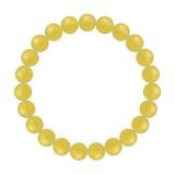 純真(8mm)黄色イエローメノウブレスレット