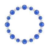 標(8mm)青色ブルーメノウ・水晶(クォーツ)ブレスレット