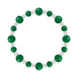 標(8mm)緑色グリーンメノウ・水晶(クォーツ)ブレスレット