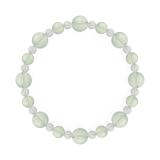 標(8mm)白緑色グリーンアメジスト・水晶(クォーツ)ブレスレット