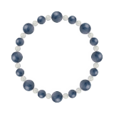 標(8mm)群青色カイヤナイト・水晶(クォーツ)ブレスレット