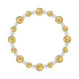 標(8mm)黄金色ルチルクォーツ・水晶(クォーツ)ブレスレット