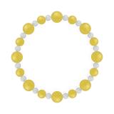 標(8mm)黄色イエローメノウ・水晶(クォーツ)ブレスレット