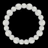 相生(10mm)白露色水晶・クォーツブレスレット