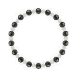相生(6mm)鉄紺色ブルータイガーアイ・水晶(クォーツ)ブレスレット