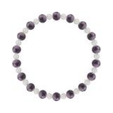 相生(6mm)京紫色チャロアイト・水晶(クォーツ)ブレスレット