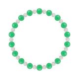 相生(6mm)若緑色クリソプレーズ・水晶(クォーツ)ブレスレット