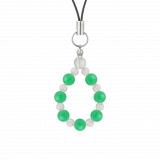 相生(6mm)若緑色クリソプレーズ・水晶(クォーツ)ストラップ