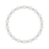 相生(6mm)白色フロスティクォーツ・水晶(クォーツ)ブレスレット