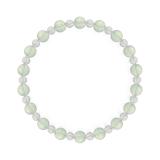 相生(6mm)白緑色グリーンアメジスト・水晶(クォーツ)ブレスレット