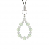 相生(6mm)白緑色グリーンアメジスト・水晶(クォーツ)ストラップ