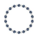 相生(6mm)群青色カイヤナイト・水晶(クォーツ)ブレスレット