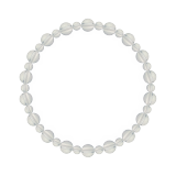相生(6mm)白露色水晶・クォーツブレスレット