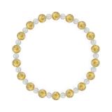 相生(6mm)黄金色ルチルクォーツ・水晶(クォーツ)ブレスレット