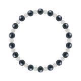 相生(6mm)紺青色サファイア・水晶(クォーツ)ブレスレット