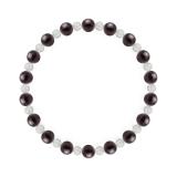 相生(6mm)紫紺色スギライト・水晶(クォーツ)ブレスレット