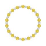 相生(6mm)黄色イエローメノウ・水晶(クォーツ)ブレスレット