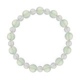 相生(8mm)白緑色グリーンアメジスト・水晶(クォーツ)ブレスレット