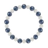相生(8mm)群青色カイヤナイト・水晶(クォーツ)ブレスレット