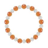 相生(8mm)橙色サードオニキス・水晶(クォーツ)ブレスレット